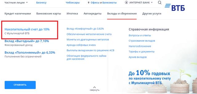 Накопительный счет ВТБ24: условия, проценты