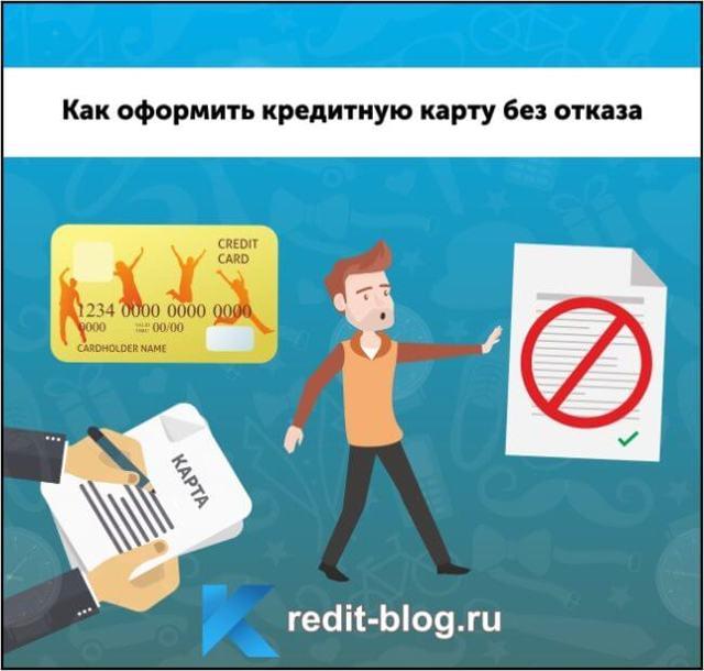 Кредитная карта без отказа: процедура оформления, инструкция и советы