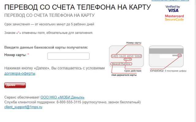 Как совершить перевод с телефона на карту Сбербанка