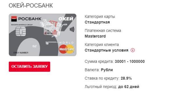 Кредитная карта Росбанка: процесс оформления, условия  и требования банка